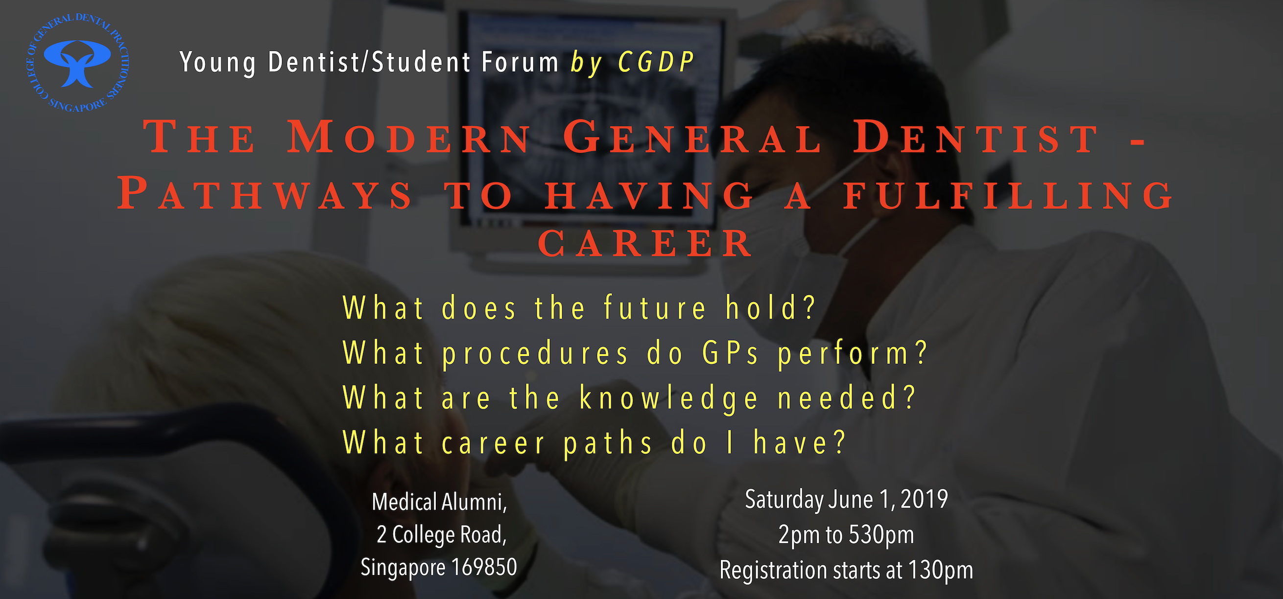 Young Dentist Forum – 1 June 2019 – CGDP